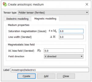 Creating an Anisotropic Medium (Ferrite)